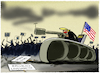 Cartoon: Trump droht mit Militäreinsatz.. (small) by markus-grolik tagged militaer,trump,usa,proteste,rassismus,buerger,praesident,panzer,demonstration,demonstranten,gewalt,illustration,karikatur,militaereinsatz