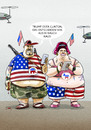 Cartoon: ...US-Wähler... (small) by markus-grolik tagged clinton,trump,hilary,donald,demokraten,republikaner,us,usa,wahlkampf,wahlumfrage,weltpolitik,präsident