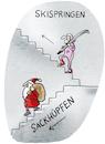 Cartoon: Vierschanzen-Tournee ruft (small) by markus-grolik tagged wintersport,skispringen,weihnachten,vorbei,tv,sport,vierschanzen,tournee