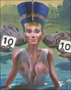 Cartoon: wet titi contest (small) by greg hergert tagged nefertiti