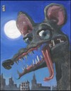 Cartoon: zombie rat fink (small) by greg hergert tagged zombie,rat,fink