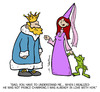 Cartoon: Frog (small) by Juan Carlos Partidas tagged princess,prince,frog,toad,king,kingdom,magic,curse,late,love,loved,couple,boyfriend,girlfriend,teen,teenager,crown,fairy,tales