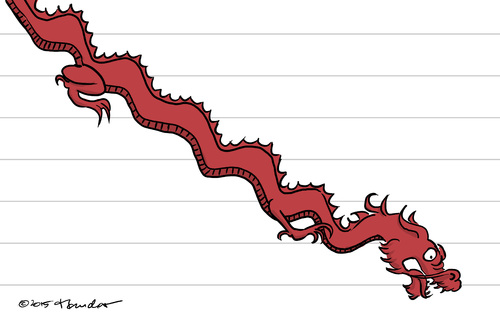 Cartoon: China stock market (medium) by Mandor tagged market,stock,china,crisis