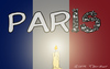 Cartoon: Paris (small) by Mandor tagged paris,attack,is,isis