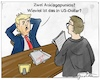 Cartoon: Zwei Anklagepunkte (small) by Justen tagged politik,trump,impeachment,klage,anklagepunkte,gericht,usa,amtsenthebung,verteidiger