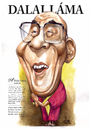 Cartoon: Dalai Lama (small) by Szena tagged dalai,lama,budhism,tibet