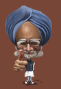 Cartoon: Manmohan Singh (small) by jaime ortega tagged manmohan,singh
