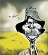 Cartoon: Un Tipo Viejo (small) by jaime ortega tagged africa,men,hombre,viejo,old,man