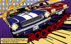 Cartoon: The Duel (small) by Michael Böhm tagged stingray,mustang,cars,muscle,lichtenstein,popart,classic,race