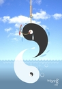 Cartoon: disequilibrium (small) by Tonho tagged yin yang fish