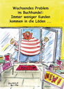 Cartoon: Wachsendes Problem (small) by Boiselle tagged steffen,boiselle,problem,buchhandlung,buchhandel,bücher,laden,geschäft,mann,dick,übergewicht,lustig,humor,witz,witzig,cartoon,fettleibig,tür,glastür,aufsteller,regale,regal,welcome,new