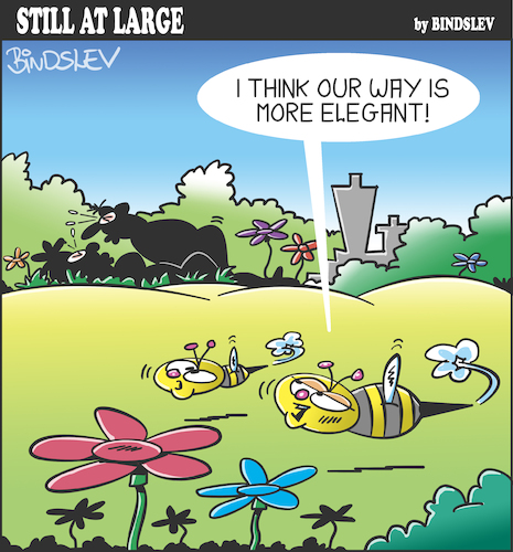 Cartoon: Still at large 111 (medium) by bindslev tagged pollination,life,love,date,dates,picnic,picnics,procreating,queen,bee,bees,flowers,flower,procreation,relationship,man,woman,fall,in,kiss,kisses,making,pollination,sex,life,love,date,dates,picnic,picnics,procreating,queen,bee,bees,flowers,flower,procreation,relationship,man,woman,fall,in,kiss,kisses,making