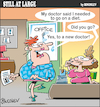 Cartoon: Still at large 58 (small) by bindslev tagged diet,diets,dieter,dieters,dietitian,dietitians,nutritionist,nutritionists,weight,loss,clinic,clinics,second,opinion,opinions,referral,referrals,obesity,epidemic,fat,problem,problems