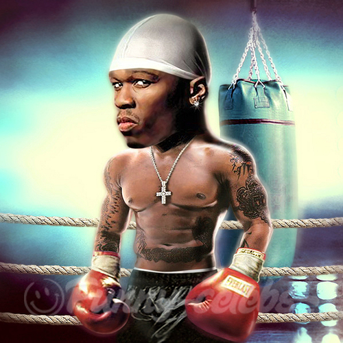 Cartoon: 50 Cent (medium) by funny-celebs tagged 50,cent,curtis,james,jackson,rapper,hip,hop,actor,music,boxing