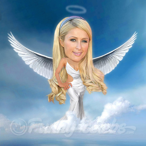 Cartoon: Paris Hilton (medium) by funny-celebs tagged paris,hilton,scandal,affair,entertainment,reality,star,celebrity,party,paparazzi,angel