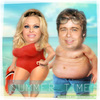 Cartoon: SUMMER TIME (small) by funny-celebs tagged pamelaanderson,bredpitt,summer,summertime,sea,vacation,holliday