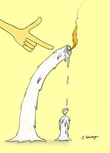Cartoon: candle (medium) by aytrshnby tagged candle