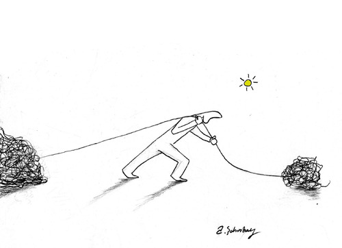 Cartoon: stubborn and determined (medium) by aytrshnby tagged and,stubborn,determined