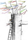 Cartoon: wish tree 2 (small) by aytrshnby tagged wish,tree