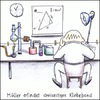 Cartoon: Klebeband (small) by Storch tagged müller,erfindet,dreiseitiges,klebeband,zweiseitig,doppelseitig,wissenschaft,chemie,mathematik,einstein,pythagoras
