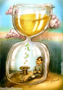 Cartoon: Time is money (small) by hopsy tagged time,is,money,riches,richness,sucess,life,aim,pink,clouds,mountain,beggar,hat,hour,glass,sand,minute