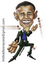 Cartoon: barack obama (small) by indika dissanayake tagged barack,obama,america
