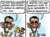 Cartoon: Obama in dilemma over mosque! (small) by Satish Acharya tagged obama,mosque,at,ground,zero