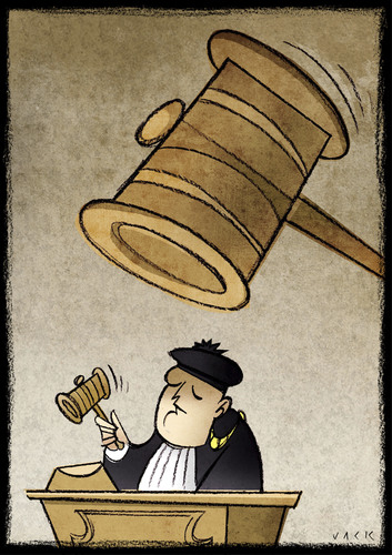 Cartoon: Justice (medium) by Giacomo tagged justice,judgement,hammer,court,magistrate,read,giacomo,cardelli