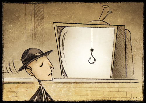 Cartoon: TV spots (medium) by Giacomo tagged message,tv,spot,advertising,consumer,shopping,giacomo,cardelli,lombrio,jack