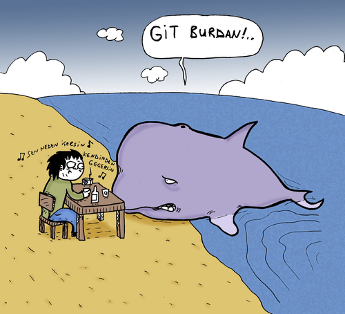 Cartoon: Whale (medium) by Musluk tagged whale