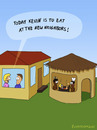 Cartoon: DINNER (small) by fcartoons tagged dinner,cannibals,kannibale,topf,essen,haus,hood
