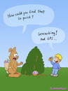 Cartoon: GPS (small) by fcartoons tagged gps easter bunny boy geo geocache eggs geocaching nest bush fcartoons cartoon