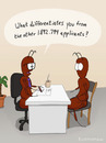 Cartoon: INTERVIEW (small) by fcartoons tagged job interview ant boss chair applicant office coffee fcartoons yucca comic question