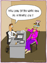 Cartoon: JOB INTERVIEW (small) by fcartoons tagged job,interview,private,detective,gumshoe,cartoon,toon,pink,phone,eye,kuli,stempel,telefon,büro,stuhl,hut,euter