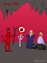 Cartoon: Manager Hölle (small) by fcartoons tagged manager,hölle,hell,teufel,devil,apple,iphone,suitcase,cry,evil,grin,red,cartoon,fcartoons,business