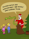 Cartoon: Nikolaus (small) by fcartoons tagged nikolaus,santa,xmas,weihnachten,rot,sack,tannenbaum,mädchen,junge,kinder,schlange,kaninchen,weinen,teilen,cartoon,fcartoons