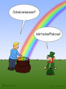 Cartoon: TOPF VOLL GOLD (small) by fcartoons tagged topf,gold,schokolade,kobold,regenbogen
