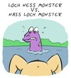 Cartoon: Augenhöhe (small) by Rob tagged loch,ness,nessie,woman,frau,nass,see,lake,ungeheuer,nakt,nude,monster