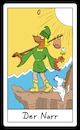Cartoon: Der Narr (small) by Rob tagged tarot,karte,karten,card,cards,lemming,lemminge,fool,narr,hund,dog,klippe,cliff