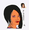 Cartoon: portre (small) by keziban tagged rihanna