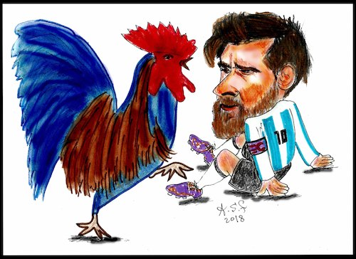 Cartoon: world cup 2018 (medium) by AHMEDSAMIRFARID tagged salah,ahmedsamirfarid,ahmed,samir,farid,mo,messi,france,argentina,worldcup,cartoon,caricature,egypt,egyptair