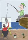 Cartoon: FISHING (small) by AHMEDSAMIRFARID tagged ahmed,samir,farid,fishing,egyptair,cartoon,caricature
