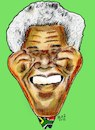 Cartoon: mandela (small) by AHMEDSAMIRFARID tagged nelson,mandela,ahmed,samir,farid,ahmedsamirfarid,south,africa,anniversary