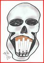 Cartoon: SKULL (small) by AHMEDSAMIRFARID tagged ahmed,samir,farid,skull,smoking,cegarette,egyptair,cartoon,caricature,artist,egypt,revolution,employee