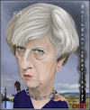 Cartoon: Theresa May. (small) by Maria Hamrin tagged caricature,british,leader,chief,politican,conservative,party,uk,david,cameron,margret,thatcher,10,downing,street,eu,brexit,dup