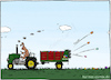 Cartoon: Eierwerfer (small) by Hannes tagged ostern,osterhase,ostereier,easter,landwirtschaft,traktor
