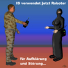 Cartoon: IS Roboter (small) by PuzzleVisions tagged puzzlevisions,is,robots,roboter,islamischer,staat,kampf,fighting