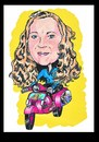 Cartoon: private portrait (small) by Marty Street tagged scooters,vespa