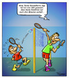 Cartoon: Badminton 2.0 (small) by Troganer tagged badminton,sport,app