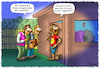 Cartoon: Herr Gott und Sohn (small) by Troganer tagged religion,jesus,zeugen,jehovas